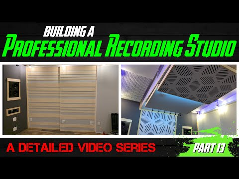 Building A Professional Recording Studio - Part 13 (ceiling panels and diffusers 2 of 2)