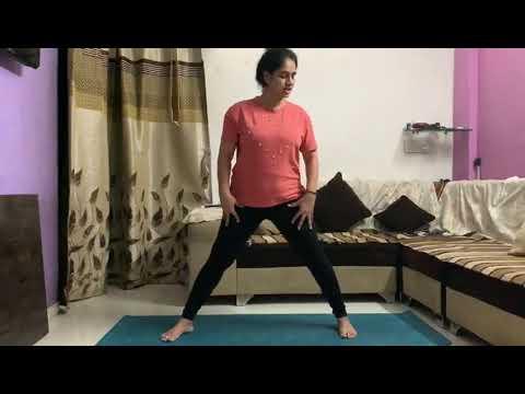 how to do triangle poses  trikonasana in hindi  yoga