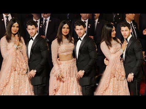 Priyanka Chopra Looks So Beautiful & Complete Holding Nick At Mukesh Ambani Daughter Ishas MARRIAGE