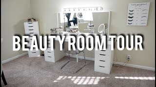 BEAUTY ROOM TOUR | Vanity, Lighting, & Basic Decor!