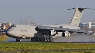 Lockheed C-5 Galaxy US Air Force landing in Paris Orly airport
