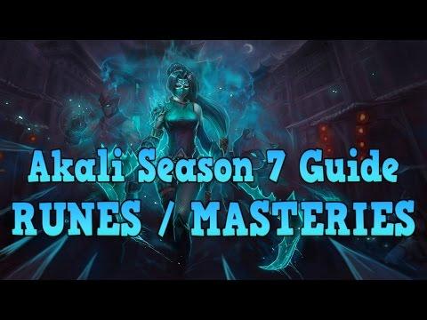 Reworked Akali Guide: Akali Season 7 Runes and Masteries