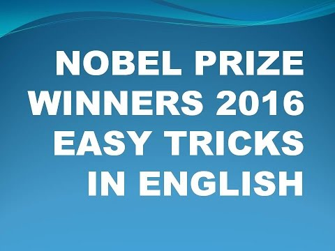Tricks To Remember Nobel Prize Winners 2016 ( In English )