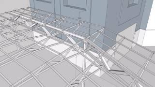 видео Установка навесов из поликарбоната: шаги проектирования и монтажа