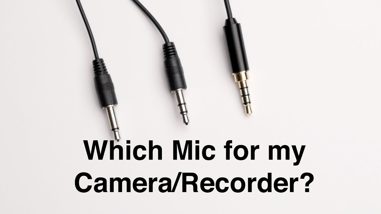 medium resolution of will that microphone work with my camera or recorder power plugs and connectors