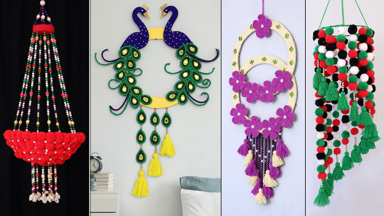 Easy Woolen Craft Home Decor Wall Hanging Ideas Youtube