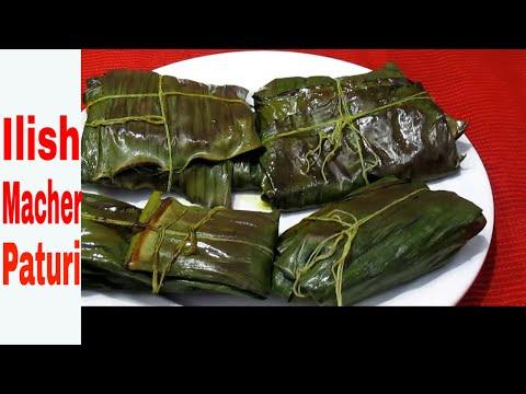 Ilish Macher Paturi Recipe - Shorshe diye Ilish Macher Bhapa - Famous Bengali Hilsa Dish