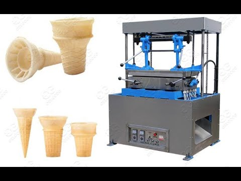 Operation Video Of Ice Cream Cones Making Machine With Capacity 1000pc/h @gelgoog.com