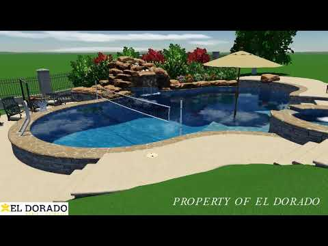 El Dorado 3D Swimming Pool Design - #2 Freeform