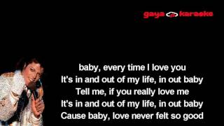 love never felt so good - karaoke instrumental female women key