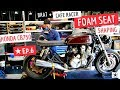 Cafe Racer ★ Foam Seat Shaping Brat Style, Honda CB750 Cafe Bike Ep 6