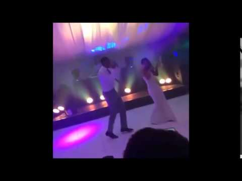 QPR FC's Leroy Fer during his first dance at his wedding...