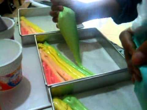 Tips Cara Membuat Rainbow Cake Bolu Gulung Yang Empuk Dan Enak Youtube