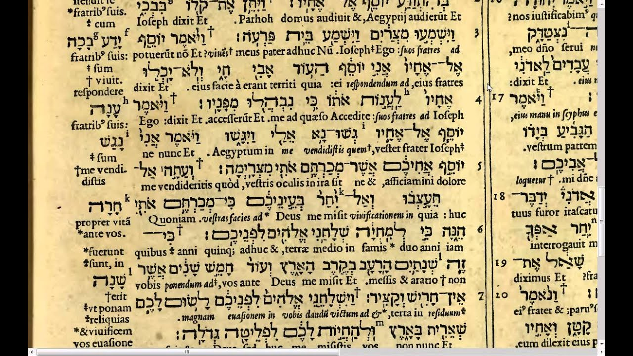 Holy Bible Genesis C 54 V 29 C 55 V 7 Latin And Hebrew