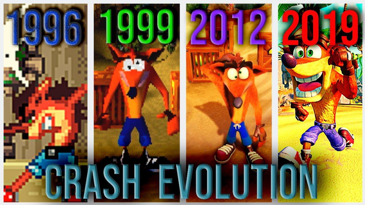 EVOLUTION OF CRASH GAMES (1996-2019) ALL CRASH GAMES (FHD)