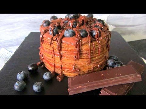 Tarta VEGANA Crepes de Caramelo