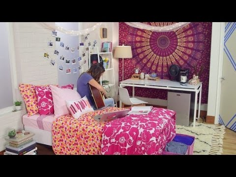 How to Decorate Your Dorm Room   YouTube