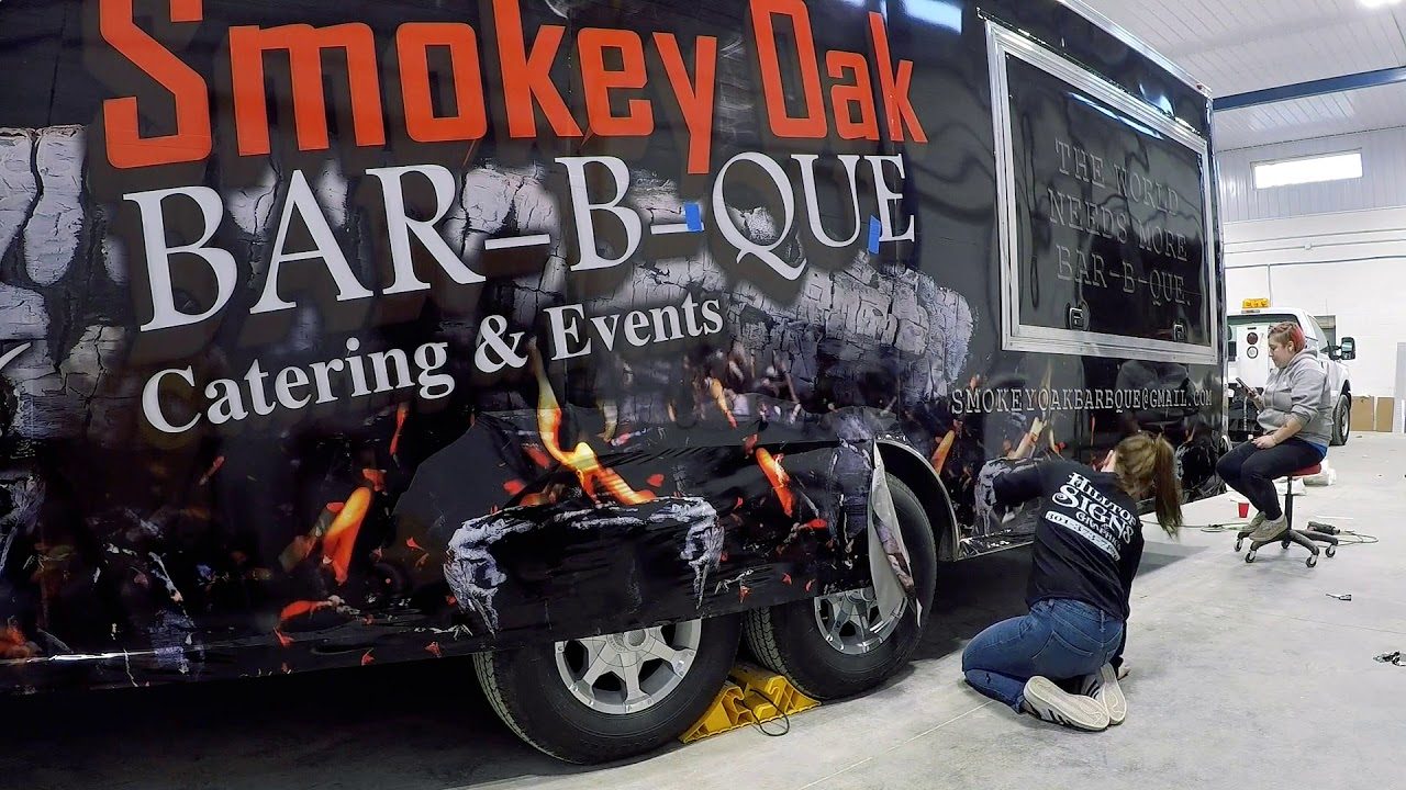 Smokey Oak Full Trailer Wrap