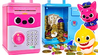BabyShark and PinkFong! Put your jewelry in a safe Pinkfong Safe! | PinkyPopTOY