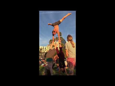 Sports Acro Tipi / TeePee with Tari, Acrobatic Press to Handstand