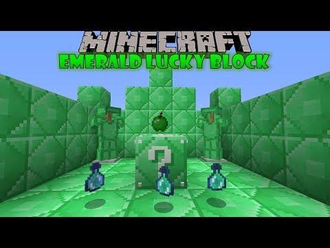 Minecraft: Mod bemutató 25. rész - Emerald Lucky Block Mod