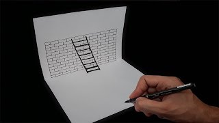 3D Merdiven Çizimi ___ How to Draw a 3D Ladder - Trick Art For Kids
