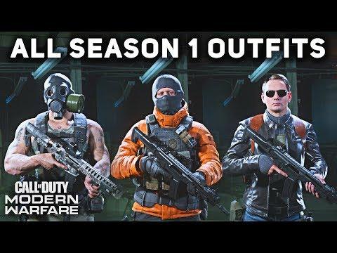 All Season 1 Operator Outfits & Uniforms (SHOWCASE) - Call Of Duty: Modern Warfare