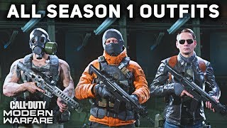 All Season 1 Operator Outfits Uniforms Showcase Call Of Duty Modern Warfare Youtube