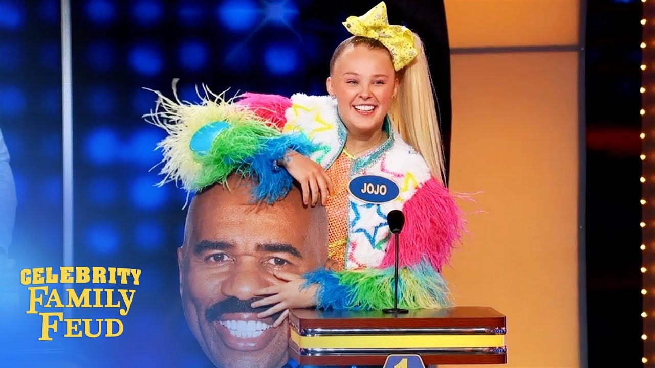 Download Look what JoJo Siwa brought to the Feud! | Celebrity Family Feud