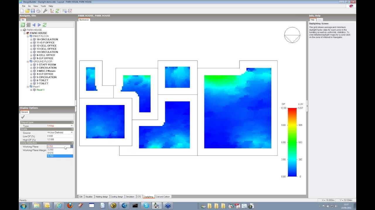 Designbuilder Detailed Hvac And Radiance Daylighting Youtube