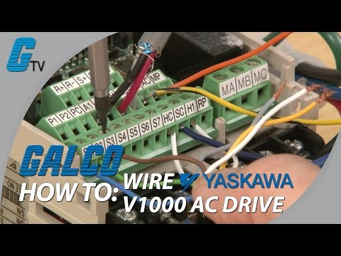 how to wire up a yaskawa v1000 ac drive
