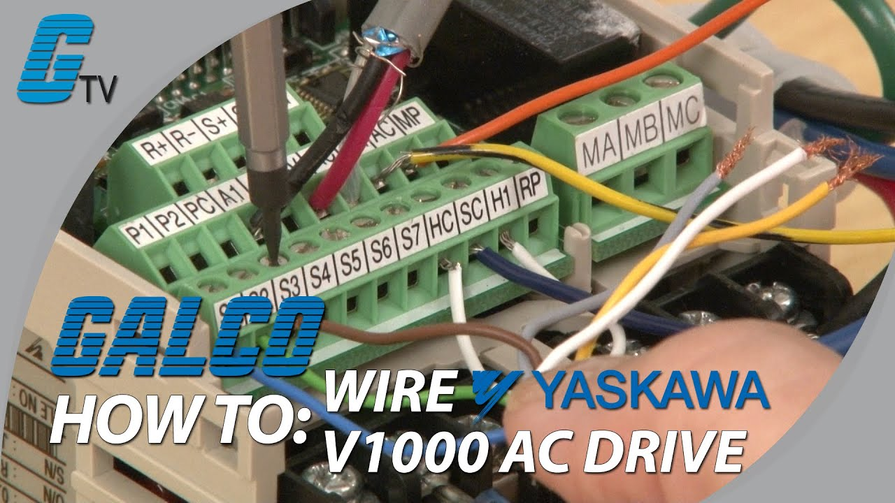 maxresdefault how to wire up a yaskawa v1000 ac drive youtube yaskawa z1000 wiring diagram at bayanpartner.co