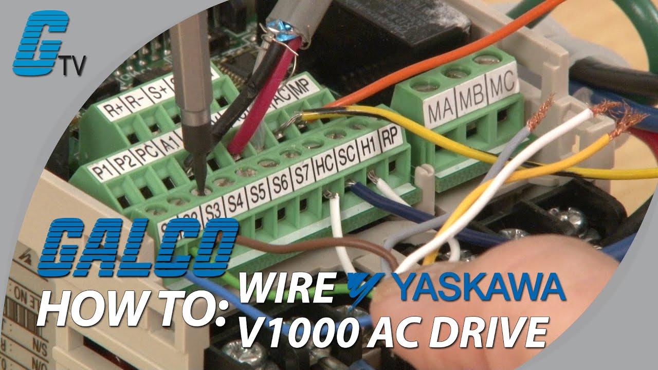 How to WireUp a Yaskawa V1000 AC Drive  YouTube