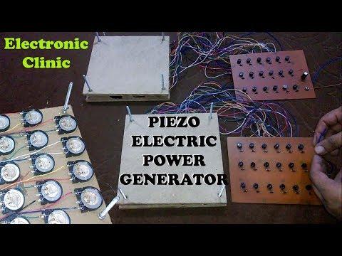 how to make Piezoelectric Generator  PIEZO ELECTRICITY GENERATION  Piezo footstep power generator