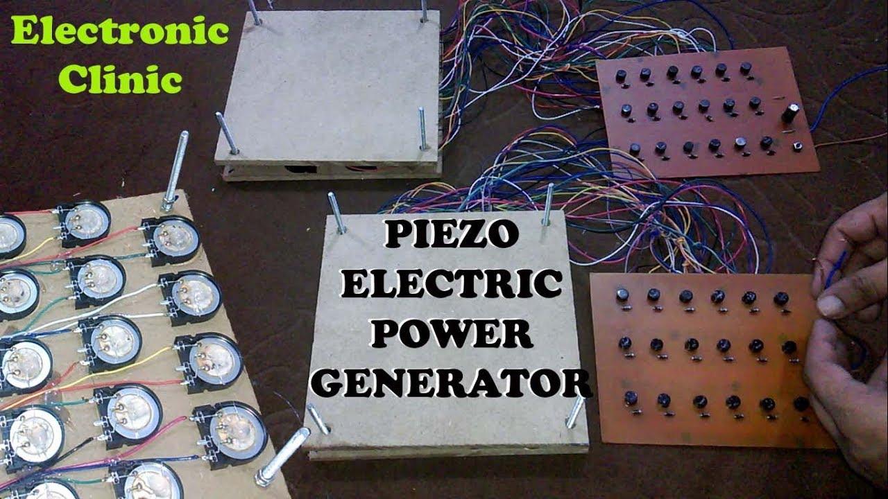 how to make Piezoelectric Generator | PIEZO ELECTRICITY GENERATION | Piezo  footstep power generator