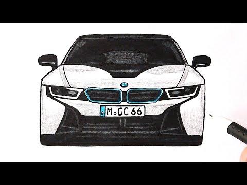Как нарисовать машину BMW i8