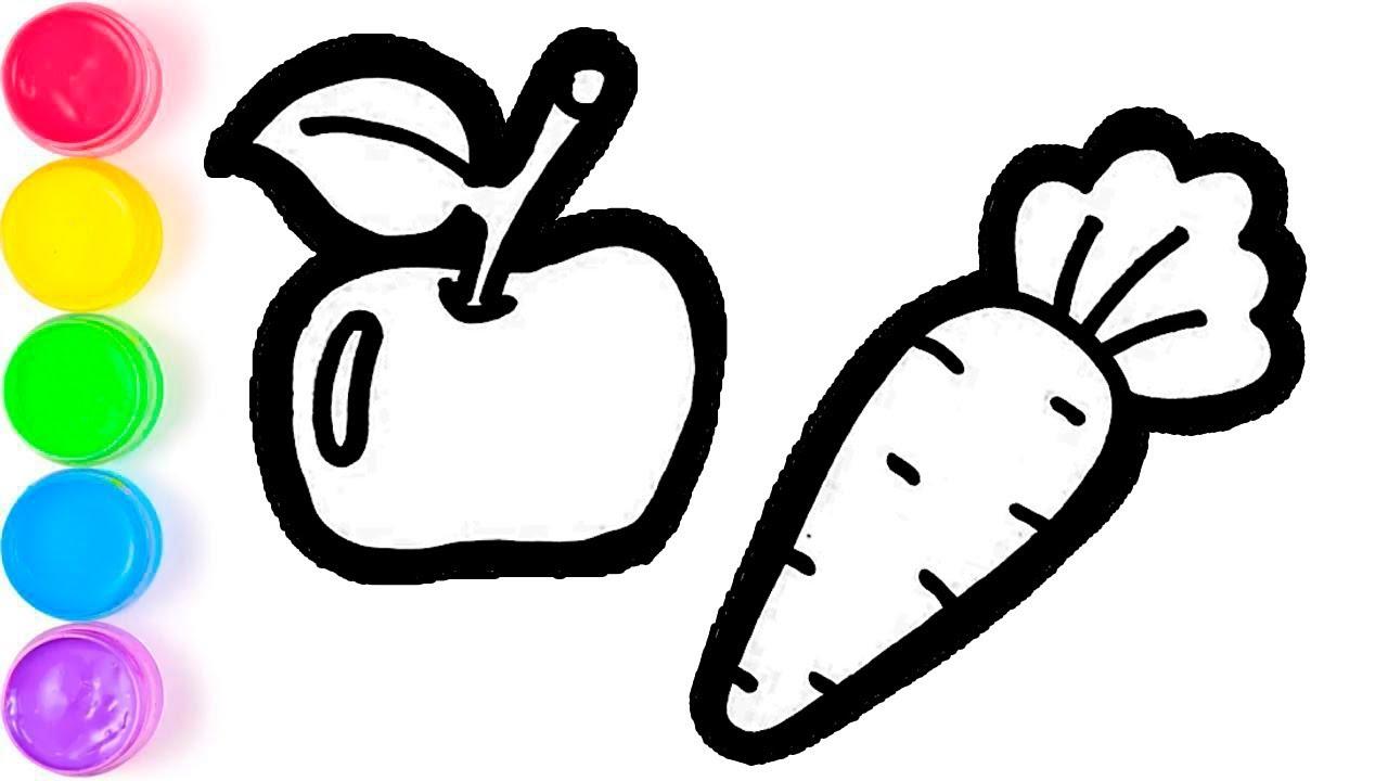 Pelajari Menggambar Dan Mewarnai Buah Buahan Dan Sayuran Untuk Anak Anak