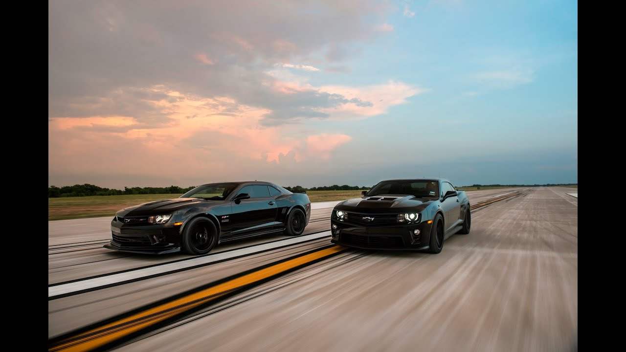 1650 Hp Drag Race Hennessey Z 28 Camaro Vs Hennessey Zl1 Camaro Youtube
