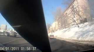 Копия видео ДТП, снесло крышу!!! (Crash Test HONDA Civic 4D)