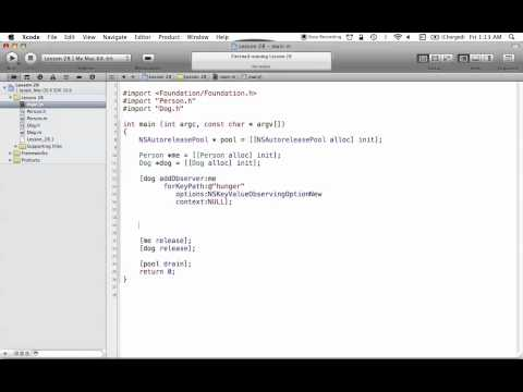 Objective-C on the Mac L28 - Key-Value Observing