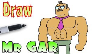 How to Draw Mr Gar | OK KO Let