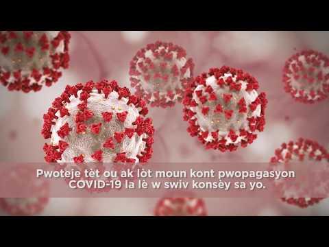 Coronavirus Prevention Tips - Creole