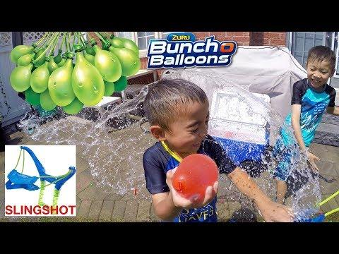 Bunch O Balloons Slingshot By Zuru | Kids Water Balloon Fight | LRH & Toyz