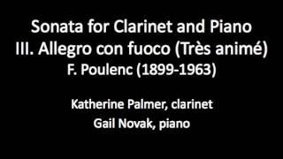 Sonata for Clarinet and Piano, mov't 3, F.  Poulenc