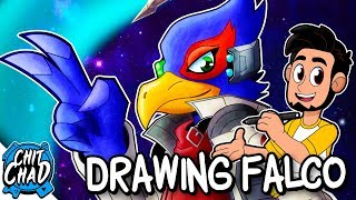 Drawing Falco from Star Fox | ABC Art Challenge