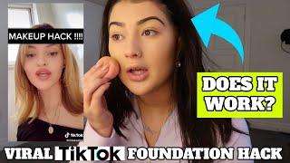 Testing Viral TIK TOK Makeup Hack!! | *It Works*