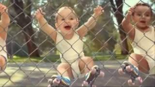 Rolschaatsende baby
