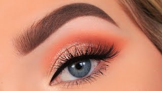 Full Glam Peach Makeup Tutorial