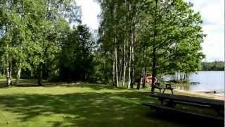 Swimming lake Djupasjön Tingsryd Småland.MOV