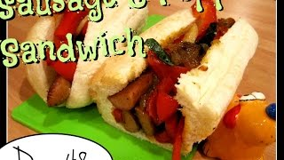 Trying Laura's Sandwich With Sausage And Peppers [day 48]